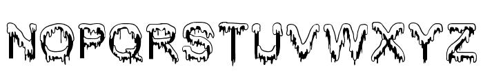 Jizz Mass creamy Font UPPERCASE