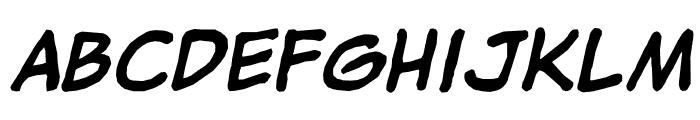 jibbajabba ExtraBold Italic Font LOWERCASE