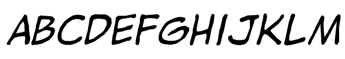 jibbajabba Italic Font LOWERCASE