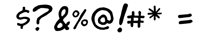jibbajabba Font OTHER CHARS