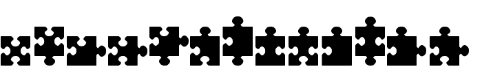 jigsaw pieces tfb Font LOWERCASE
