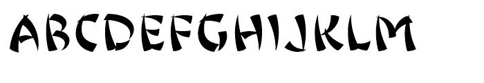 Jing Jing Regular Font UPPERCASE