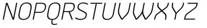 Jiho Extra Light Italic Font UPPERCASE