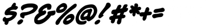 Jim Lee Bold Italic Font OTHER CHARS