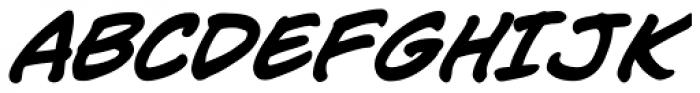 Jim Lee Bold Italic Font UPPERCASE
