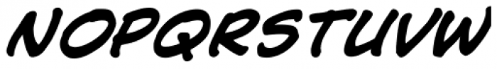 Jim Lee Bold Italic Font LOWERCASE