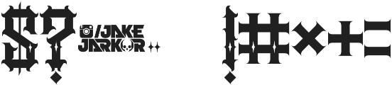 JKR - AGRESIVO SHINES otf (400) Font OTHER CHARS