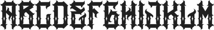 JKR - AGRESIVO SHINES otf (400) Font UPPERCASE