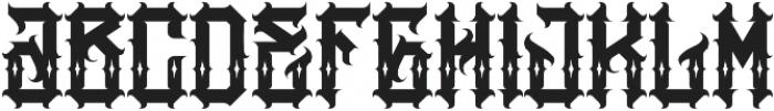 JKR - AGRESIVO SHINES otf (400) Font LOWERCASE
