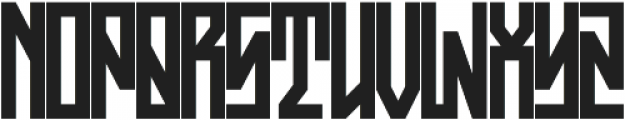 JKR - ASFALTO otf (400) Font UPPERCASE