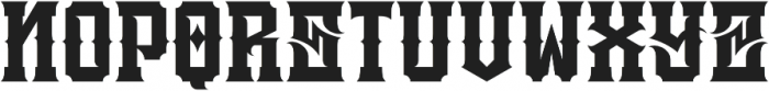JKR - ATRACO ALTERNATE otf (400) Font LOWERCASE