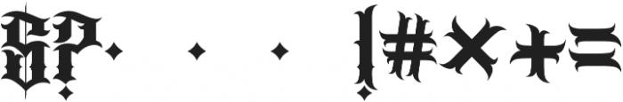 JKR - BANDIDOS ALTERNATE otf (400) Font OTHER CHARS