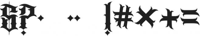 JKR - BANDIDOS otf (400) Font OTHER CHARS