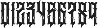 JKR - BESTIA SHINES otf (400) Font OTHER CHARS