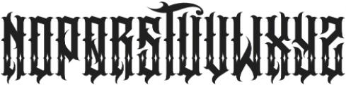 JKR - BESTIA SHINES otf (400) Font UPPERCASE