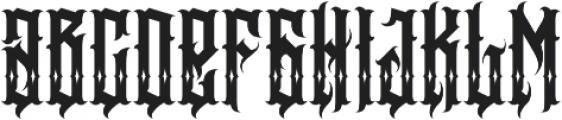 JKR - BESTIA SHINES otf (400) Font LOWERCASE
