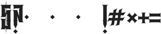 JKR - BRUTAL otf (400) Font OTHER CHARS