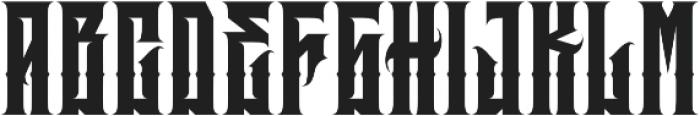 JKR - BRUTAL otf (400) Font UPPERCASE