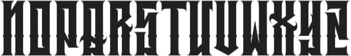 JKR - BRUTAL otf (400) Font LOWERCASE