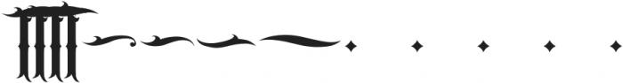JKR - CABRONES ALTERNATE OF T otf (400) Font UPPERCASE