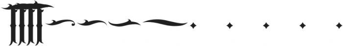 JKR - CABRONES ALTERNATE OF T otf (400) Font LOWERCASE