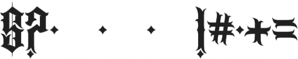 JKR - CABRONES otf (400) Font OTHER CHARS