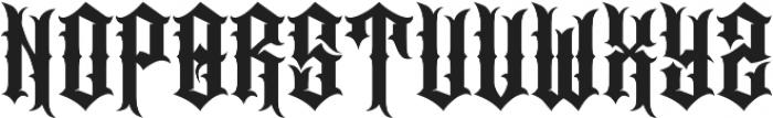 JKR - CABRONES otf (400) Font UPPERCASE