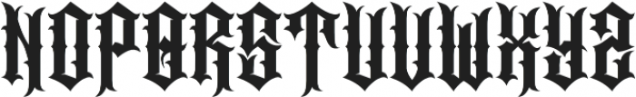JKR - CABRONES otf (400) Font LOWERCASE