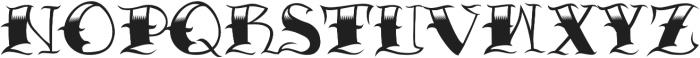 JKR - CRIMINAL otf (400) Font UPPERCASE