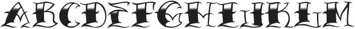JKR - CRIMINAL otf (400) Font LOWERCASE