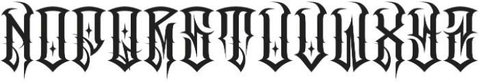 JKR - CRUDO otf (400) Font UPPERCASE