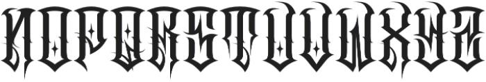 JKR - CRUDO otf (400) Font LOWERCASE