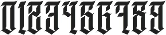 JKR - DEMENTE ALTERNATE otf (400) Font OTHER CHARS