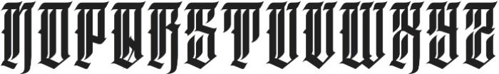 JKR - DEMENTE ALTERNATE otf (400) Font UPPERCASE