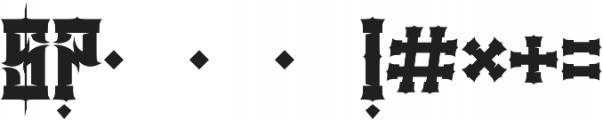 JKR - DEMOLICI Font OTHER CHARS
