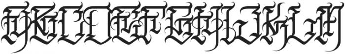 JKR - FURIA ALTERNATE otf (400) Font UPPERCASE