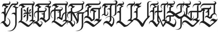 JKR - FURIA ALTERNATE otf (400) Font LOWERCASE
