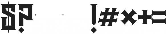 JKR - HERMANDAD ALTERNATE WESTERN otf (400) Font OTHER CHARS