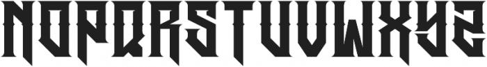 JKR - HERMANDAD ALTERNATE WESTERN otf (400) Font LOWERCASE