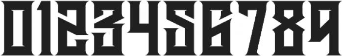 JKR - HERMANDAD WESTERN otf (400) Font OTHER CHARS