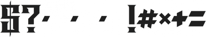 JKR - LOS JEFES otf (400) Font OTHER CHARS