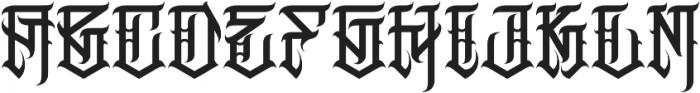 JKR - MACABRO otf (400) Font UPPERCASE
