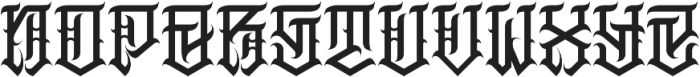 JKR - MACABRO otf (400) Font LOWERCASE