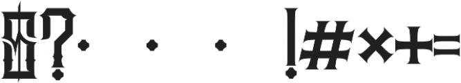 JKR - MADRIZA ALTERNATE otf (400) Font OTHER CHARS
