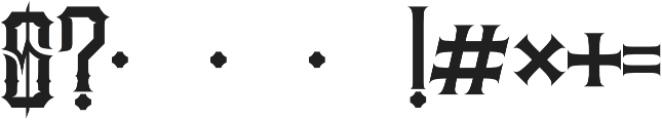 JKR - MADRIZA otf (400) Font OTHER CHARS