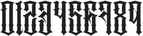 JKR - PECADOS otf (400) Font OTHER CHARS