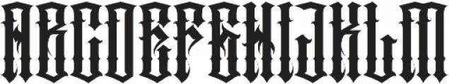 JKR - PECADOS otf (400) Font UPPERCASE