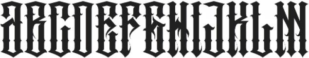 JKR - PECADOS otf (400) Font LOWERCASE