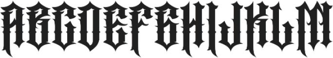 JKR - PERROS otf (400) Font UPPERCASE