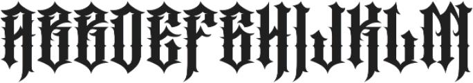 JKR - PERROS otf (400) Font LOWERCASE